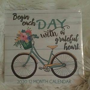 NWT 2020 12 Month Calendar -Poshmark Closet Decor